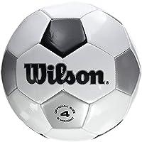 Wilson Traditional Pelota de Fútbol, Unisex Adulto, White/Black/Silver, Talla Única