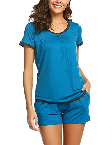 Pyjamas Set Shorty Stillen Damen Schlafanzug Top Shorts Baumwolle Schwanger Shirt Schlaf