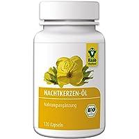 Raab Vitalfood Bio Nachtkerzenöl-Kapseln, 120 Stück à 742,5 mg, Nahrungsergänzungsmittel mit Gamma-Linolensäure... preisvergleich bei billige-tabletten.eu