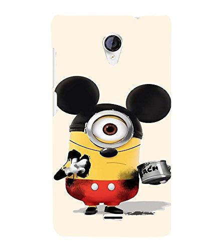 printtech Minions Mickey Mouse Back Case Cover for Micromax Canvas Unite 2 A106 /Micromax A106 Unite 2