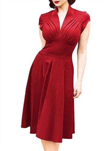 Ecollection Damen Kleid Rot - Rot