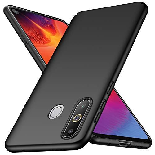 Arkour für Galaxy A8S Hülle, Minimalistisch Ultradünne Leichte Slim Fit Handyhülle mit Glattes Matte Oberfläche Hard Case für Samsung Galaxy A8S (Glattes Schwarz)