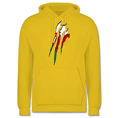 Länder - Wales Krallenspuren - Männer Premium Kapuzenpullover / Hoodie Gelb