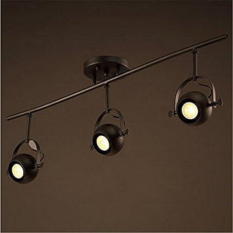 Larsure Vintage Modern Deckenleuchten Sepia industrial wind Geschäfte Strahler Loft Restaurant Cafe Bar Bügeleisen Deckenleuchte LED, 750*400 mm