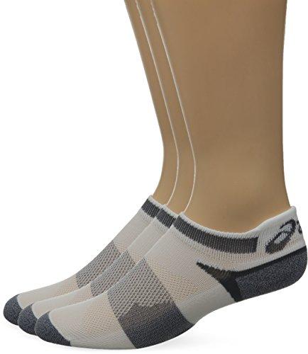 Kissen Tab Socke (ASICS Unisex Schnelle Lyte Kissen Single Tab, Unisex, White/Grey Heather, Large)