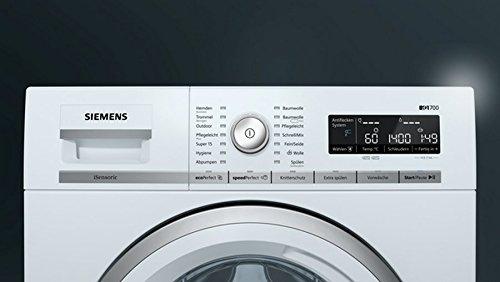Siemens iQ700 WM14W570 Waschmaschine / 8,00 kg / A+++ / 196 kWh / 1.400 U/min / Schnellwaschprogramm / Nachlegefunktion / aquaStop mit lebenslanger Garantie / - 5