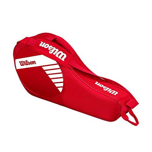 Wilson Kinder Tennis-Tasche, für junge Nachwuchsspieler, Junior 3 PK, Einheitsgröße, rot/weiß, WRZ647803