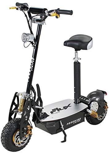 E-Scooter Roller Original E-Flux Freeride 1000 Watt 48 V mit Licht und Freilauf Elektroroller E-Roller in vielen Farben (Limited Gold)