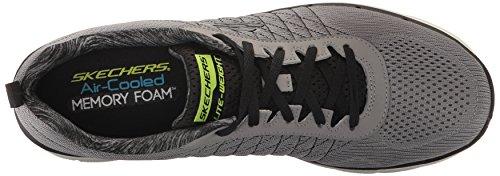 Skechers Flex Advantage 2.0, Chaussures Multisport Outdoor Homme Gris (Lgbk)