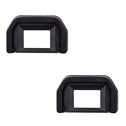 JJC Okular Augenmuschel für Canon EOS 77D, 800D, 760D, 750D, 700D, 650D, 600D, 550D, 500D, 450D, 400D, 350D, 300D, 200D, 100D, 1100D, 1200D, 1300D Ersetzt Canon Ef. (2 Stück pro Paket)