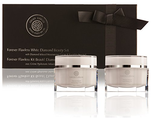 Forever Flawless White Diamond Infused Beauty Kit - FULL size Facial Peeling Gel & Moisture Complex Cream by -