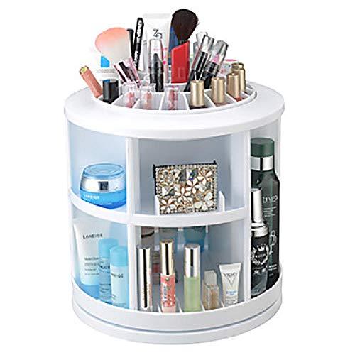 3 Farben-Make-upkosmetik-Speicher / 360 drehende tägliche runde Make-upkosmetik-Plastikplastik -