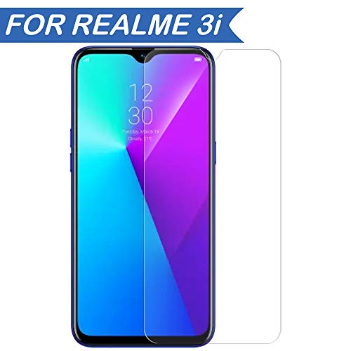 Hupshy Tempered Glass Screen Guard for Realme 3i - Transparent (Pack of 1)