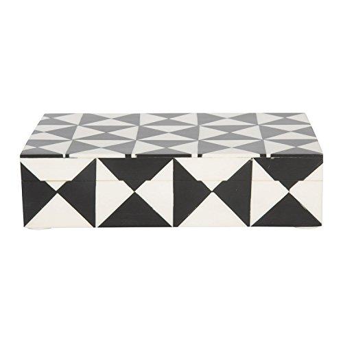 8x 5schwarz & weiß Triangle Andenken Deko Schmuck Lagerung Organizer Box handgefertigt aus Kunsthandwerk Home (Lagerung Trunk Box)