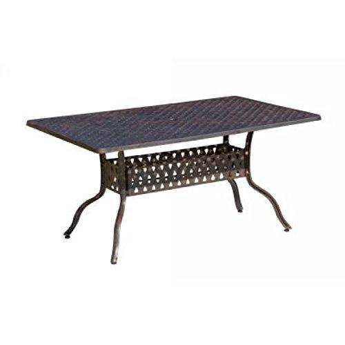 Inko Aluguss Tisch Nexus Bronze 120 x 80 cm Gartentisch TAG 204-B