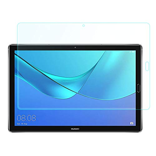 Zouzt Leinwand Protector Glass kompatibel mit Huawei MediaPad M5 10 (Pro), 2.5D Arc Edge Tempered Protective Glass[9H Härte][Anti-Scratch][Bubble Free](1 Pack) - Protector Perfect Screen Fit