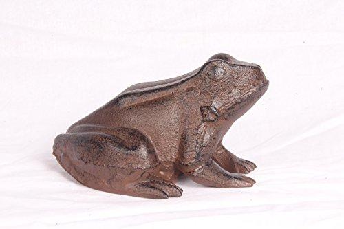 Ghisa rana Raganella Decorativa da giardino in metallo marrone figura scultura