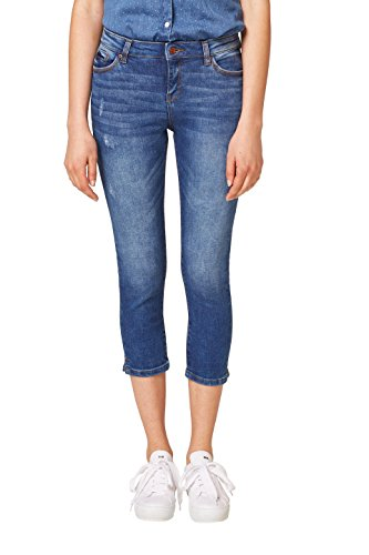 ESPRIT Damen Half-starved Jeans 048EE1B043, Blau (Blue Medium Wash 902), W27