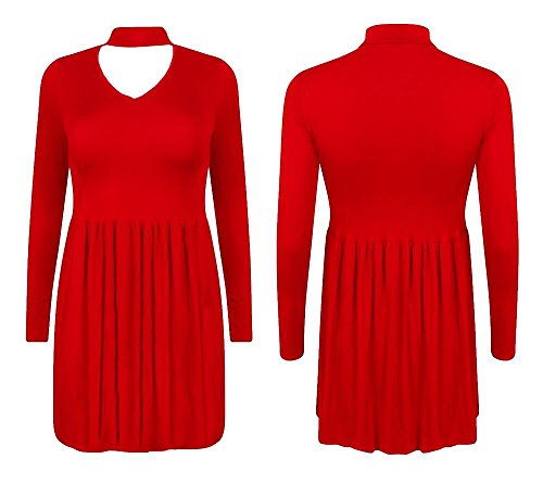 Generic - Robe - Robe - Uni - Manches Longues - Femme * taille unique red