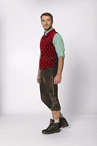 Stockerpoint - Herren Trachten Weste in verschiedenen Farbtönen, Calzado, Größe:58, Farbe:Dunkelrot - 3