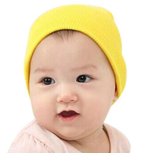 Amlaiworld Baby Mütze jungen Mädchen weichen Hut Kinder Winter warme gestrickte Mütze (gelb)