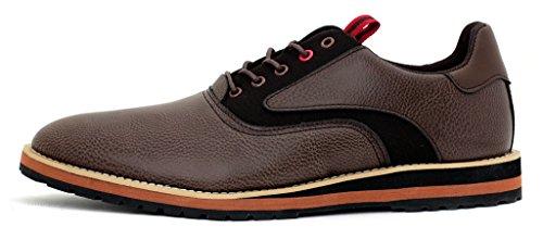 neuf pour hommes Mode Décontractée élégant Chaussures À Lacets Habillé Travail Bureau Mariage taille UK Café