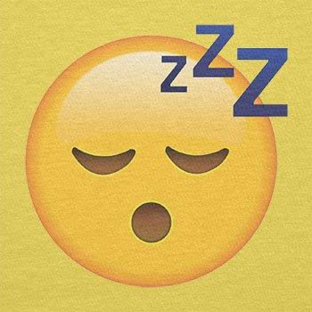 Texlab–Sleeping Emoji–sacchetto di stoffa Gelb