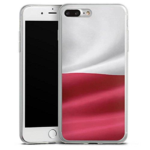 Apple iPhone 8 Slim Case Silikon Hülle Schutzhülle Polen Flagge Poland Fahne Silikon Slim Case transparent