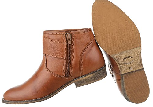 Damen Stiefeletten Schuhe Stiefel Leder Chelsea Boots Schwarz Beige Grau 36 37 38 39 40 41 Camel