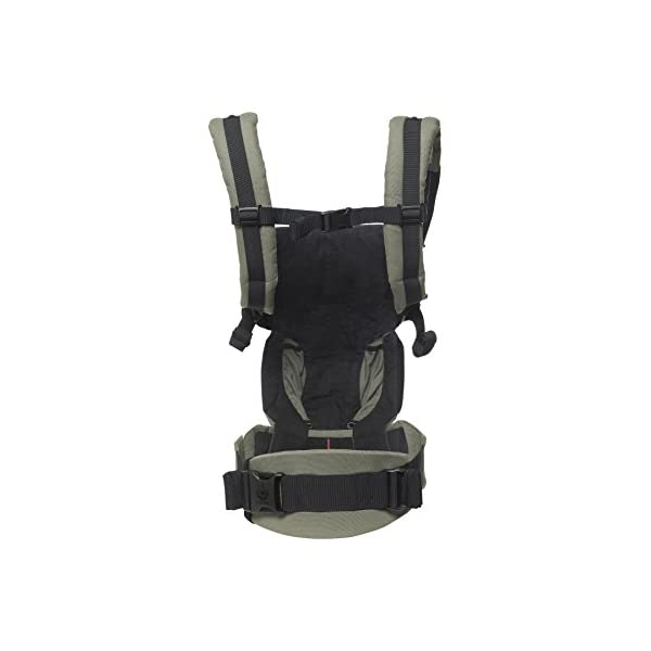 ERGObaby Baby Carrier Newborn to Toddler, 4-Position Omni 360 Khaki Green, Front Back Child Carrier Ergobaby Ergonomic Baby carrier with 4 wearing positions: parent facing, on the back, on the hip and on the front facing outwards. Four ergonomic carry positions and easy to use. Adapts to baby's growth: Infant baby carrier newborn to toddler (7-33 lbs./ 3.2 to 20 kg), no infant insert needed. Maximum comfort for parents: Longwear comfort with lumbar support waistbelt and extra cushioned shoulder straps. 2