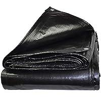 Lona alquitranada Paño De Toldo De Tela Plástica Impermeable Impermeable A Prueba De Lluvia Negro 180gm2 (Tamaño : 2x3m)