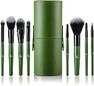 Pennelli per make up set da 8 pz con astuccio Eclat – Pennelli per make up morbidissimi durevoli con manico in