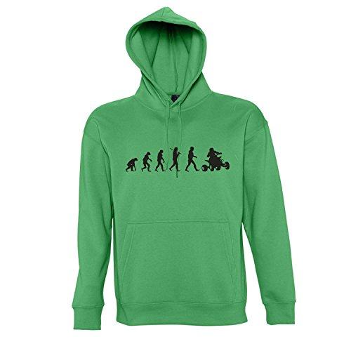 EVOLUTION - Quad Sport FUN KULT Kapuzen Sweatshirt - Pullover S-XXL , Kelly green - schwarz , M