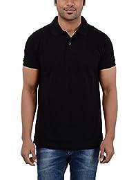 EASY 2 WEAR Men's Collar t Shirt Black (Sizes S, to XXXXL) Plus Size Avail.