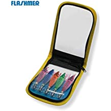 Flashmer–Estuche de 10Jibionera con grapas, 5 turluttes flottantes