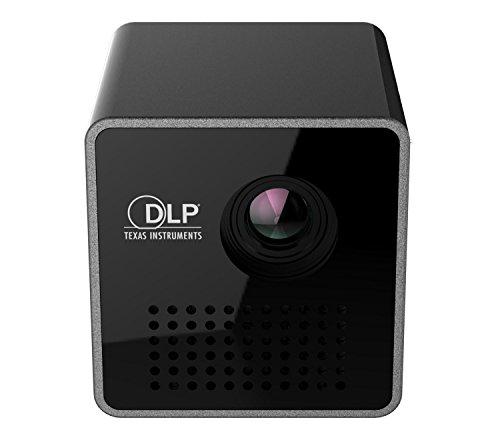 DLP Projektor Portable 1080P HD Beamer Throw 70-Zoll 64G TF Slot 3.5mm Audio-Port für Home Outdoor-Gebrauch 1000mAh Akku (Tabletop-zug-set)