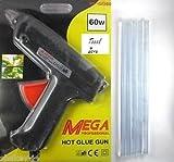 #10: Tool Zone 60W Glue Gun with Free Hot Melt Glue Sticks (8 Pcs),MP-GG60 (Black and Orange)