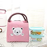 dyudyrujdtry Wonderful Insulated Canvas Box Tote Bag Thermal Cooler Food Lunch Bags(None PK 20.5 * 18 * 15cm)