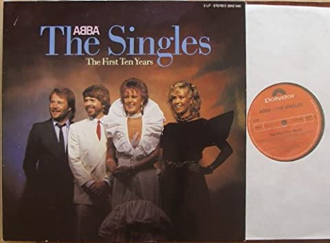 ABBA / The Singles / The First Ten Years / / Klapp-Bildhülle mit ORIGINAL illustrierten Innen-Schutzhüllen/ 1982 / Polydor # 2335264 / Deutsche Pressung / 12
