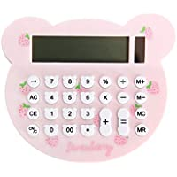 YeahiBaby Calculadora electrónica Calculadora solar portátil para estudiantes de oficinas financieras Color aleatorio