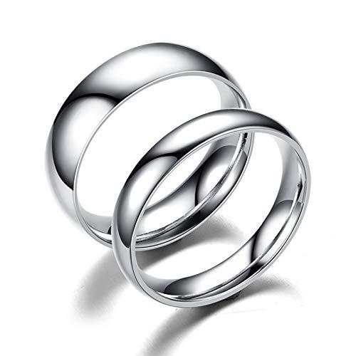e Und Ihn Paar Ringe Eheringe Trauringe Partnerringe Ringe Set Ringe Bandringe Paar Ringe Hoch Poliert Rund 6Mm Silber Damen 60 (19.1) & Herren 57 (18.1) Mit Gratis Gravur ()