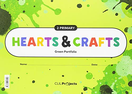 Hearts & crafts green notebook 2 primaria