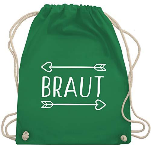 Grüner Damen Kostüm Pfeil - JGA Junggesellinnenabschied - Braut Pfeile - Unisize - Grün - WM110 - Turnbeutel & Gym Bag
