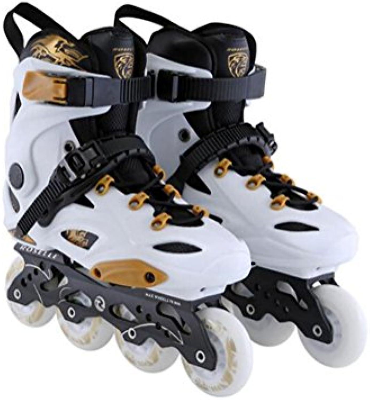 ZZY Einreihig Rollschuhe Adult Flash Skates Zweisseihig Verstellbare Größe Roller Skates Quad Stiefel Skating Frauen