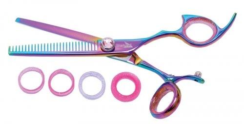 shark-fin-hair-shears-professional-line-titanium-rainbow-right-handed-swivel-texturizer-28t-thinner