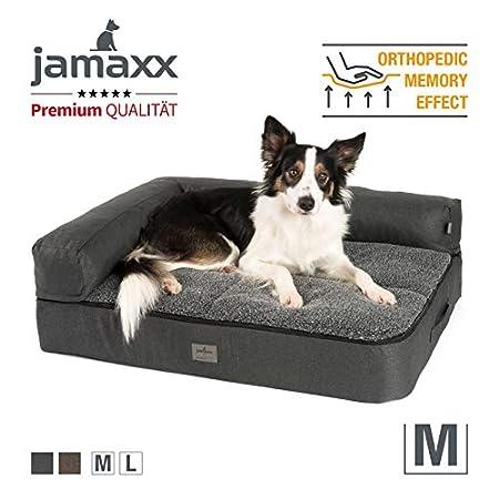JAMAXX Premium 4-in-1 Hunde-Sofa – Orthopädische Couch mit Memory Visco Schaumstoff, abnehmbare Polster, Extra-Dicke Polsterung, Wechsel-Bezug, Waschbar, PDB3015