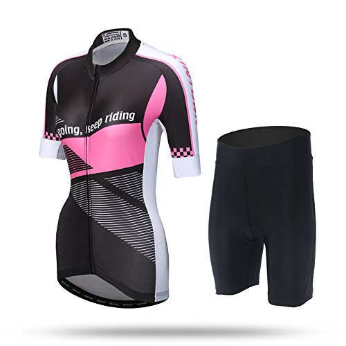 Pinjeer Neutral Sommer Kleider Paar Outfit, Jersey Shorts Sets Männer/Frauen für Rennrad, Outdoor Schnell Trocknend Radsportbekleidung Sport Kleider, Grün für Mann und Pink für Frau