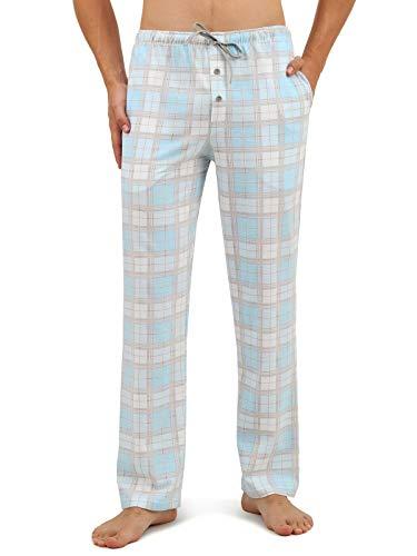 Herren Pyjamahose karo.blau, Gr. XL ()