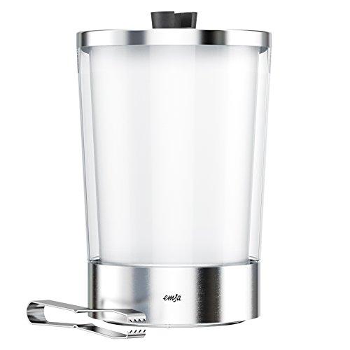 emsa eiswuerfelbehaelter EMSA 514235 Flow Slim Eiswürfelbehälter, 14.5  x  14.5  x  23.5 cm,Transparent