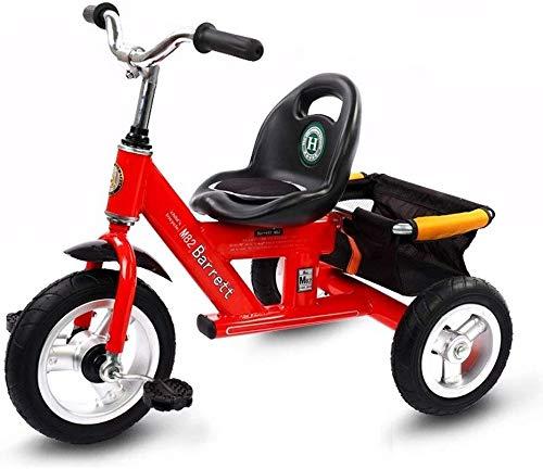 WLD Bicicletta per bambini , Trike Kids 'Tricicli Balance Bike Triciclo Kids Toy Car 1-3-2-6 anni Passeggino Triciclo all'aperto Regalo per bambini 4 Opzioni di colore,Rosso